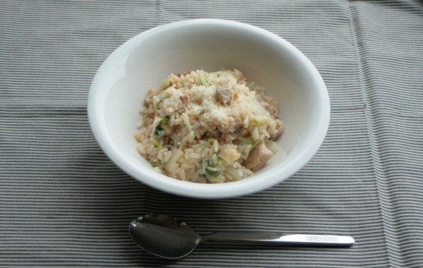 白菜と鶏肉のゆず風味リゾット