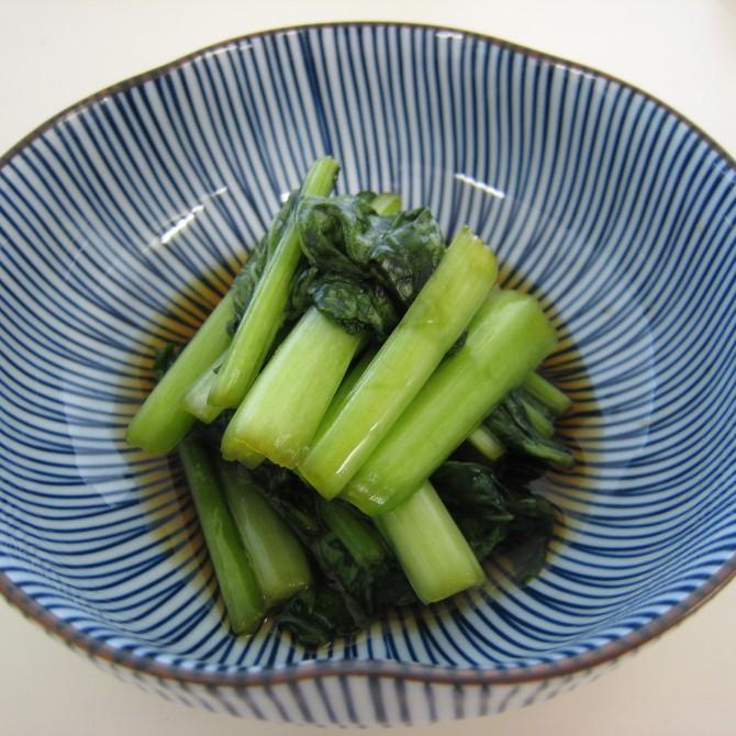 小松菜のらっきょう酢漬け