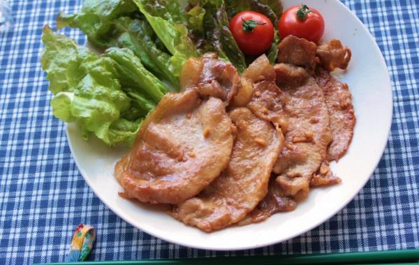 豚肉の酢しょうが焼き