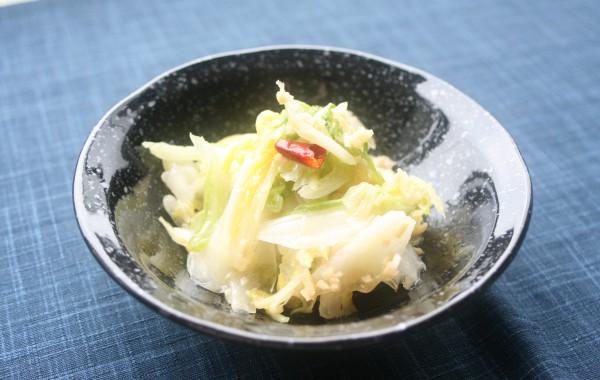 白菜の中華風即席漬け