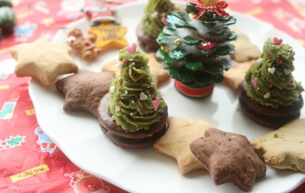 クリスマスのツリーポテト
