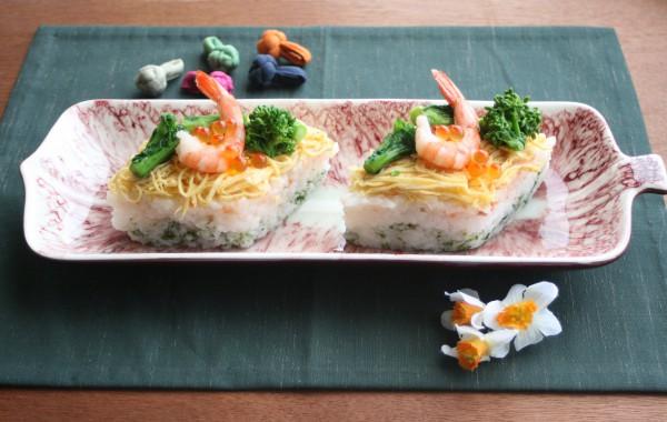 ひな祭りの手作りちらし寿司