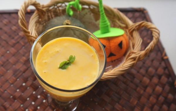 ハロウィンに♪かぼちゃのスムージー