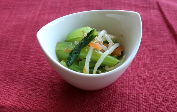 小松菜ともやしのナムル風