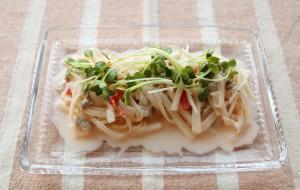 大根と豚肉のおかずサラダ