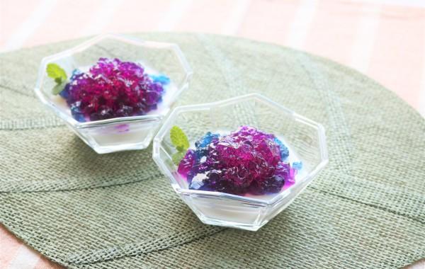 紫陽花ミルクゼリー