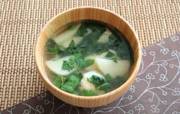 ささみとモロヘイヤのスープ